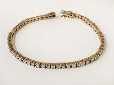 GOLD & DIAMOND TENNIS BRACELET - APPROX 4CTS OF DIAMONDS