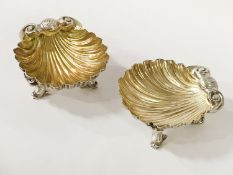 PAIR HM SILVER BUTTER DISHES