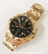 ROSE GOLD PLATED BULOVA WATCH WITH PAPERS