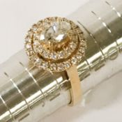 18CT GOLD DIAMOND RING - APPROX 1.5CT
