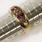 HM 15CT PEARL & RUBY RING