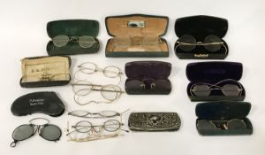 15 EDWARDIAN SPECTACLES & CASES
