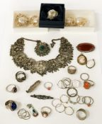 VARIOUS SILVER JEWELLERY & COCO CHANEL EARRINGS