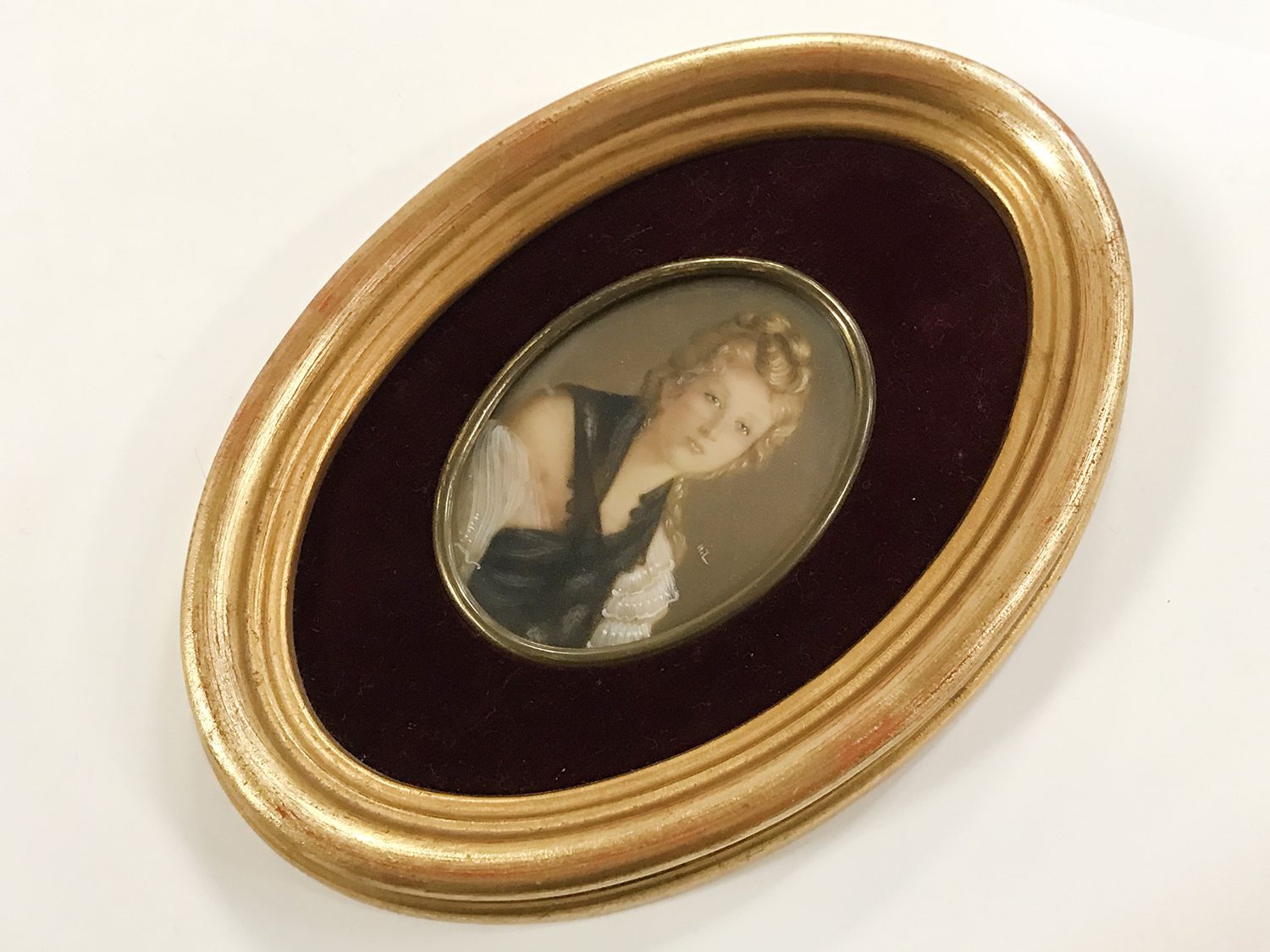 TWO FRAMED 20THC PORTRAIT MINIATURES - Image 3 of 3