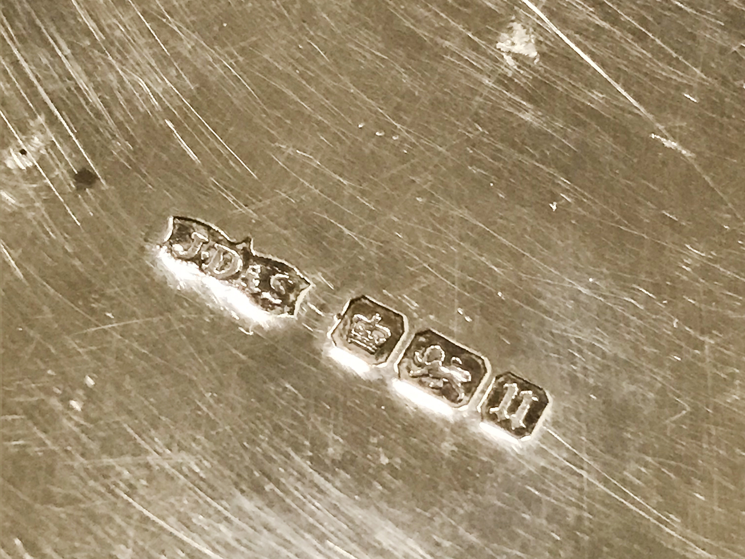 HM SILVER FRETWORK BOWL WITH 5 HM SILVER NAPKIN RINGS - Image 4 of 8
