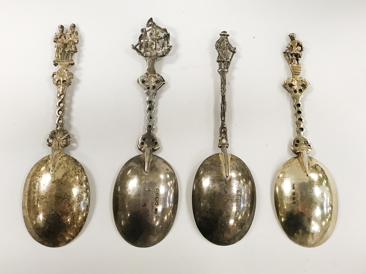 FOUR EARLY HM SILVER FIGURAL SPOONS - Image 2 of 4