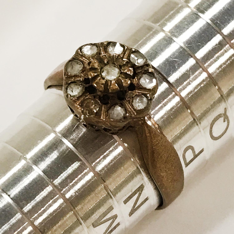 3 ANTIQUE DIAMOND RINGS - Image 4 of 4