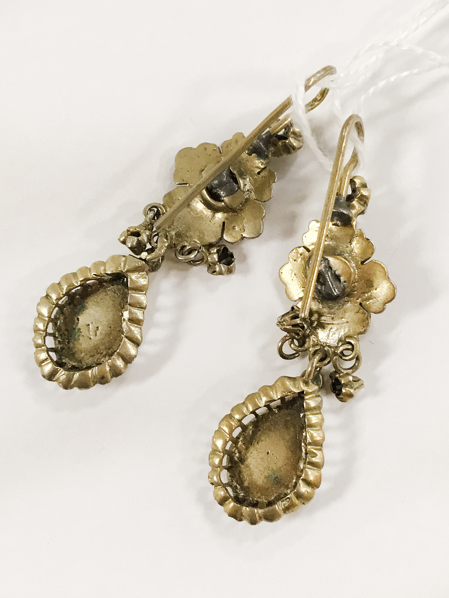 ANTIQUE EARRINGS WITH DIAMONDS - Image 2 of 2