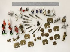 SMALL COLLECTION OF LEAD SOLDIERS & OTHER ITEMS