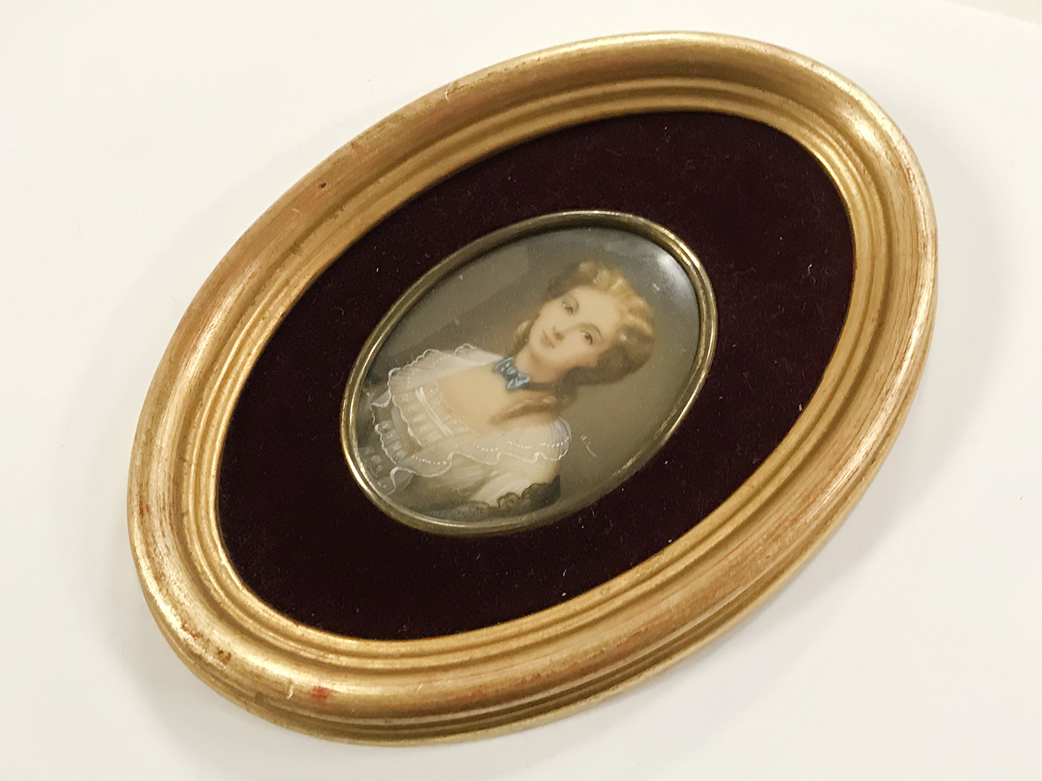TWO FRAMED 20THC PORTRAIT MINIATURES - Image 2 of 3