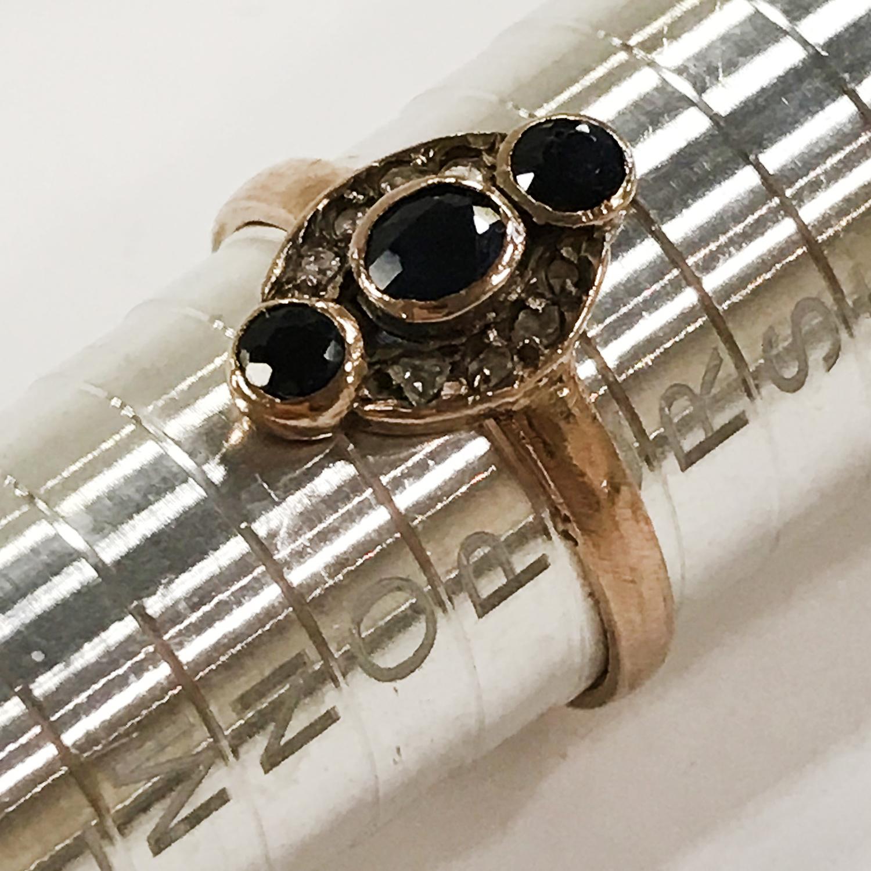 THREE 9CT GOLD DIAMOND RINGS - Image 2 of 4