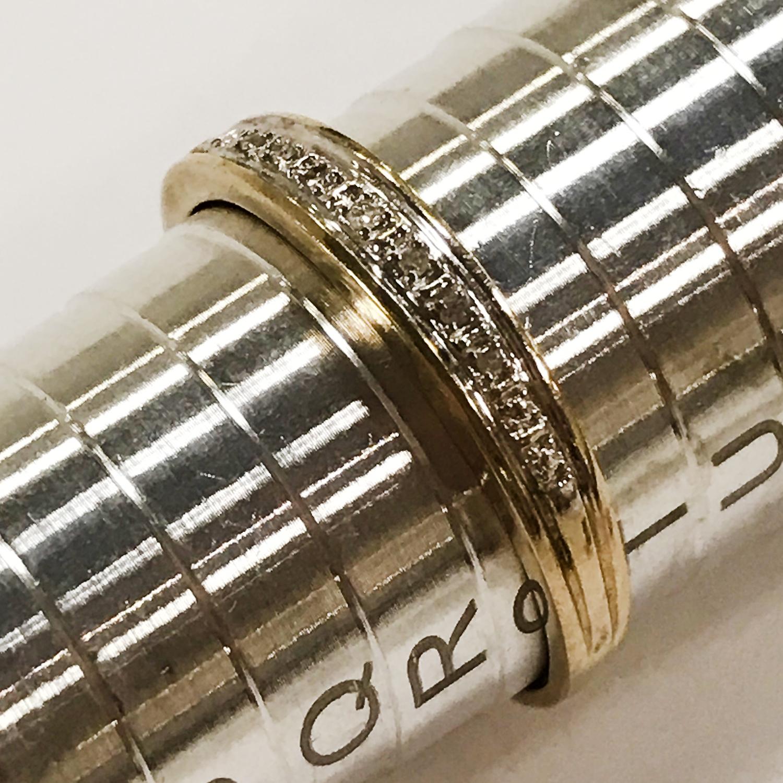 THREE 9CT GOLD DIAMOND RINGS - Image 3 of 4