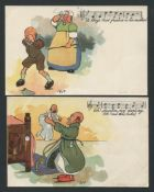 TWO MUSIC / SONG DAVIDSON BROS PICTORIAL POSTCARDS FROM ORIGINALS BY PYP.