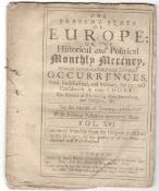 THE PRESENT STATE OF EUROPE OR THE HISTORICAL AND POLITICAL MONTHLY MERCURY FOR JANUARY 1705