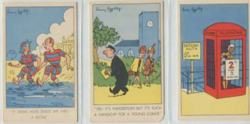 THREE VINTAGE ARTIST SIGNED POSTCARDS BY BARRY APPLEBY