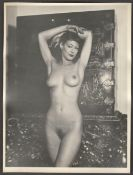 ORIGINAL BLACK AND WHITE UNTOUCHED UNADULTERATED PHOTOGRAPH OF NUDE MODEL BY HORACE ROYE
