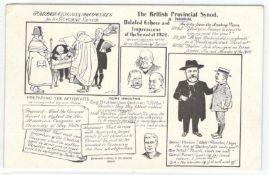 THE BRITISH PROVINCIAL SYNOD AT DUKINFIELD - VINTAGE UNUSED POSTCARD BY GRAHAM & HESLIP BELFAST