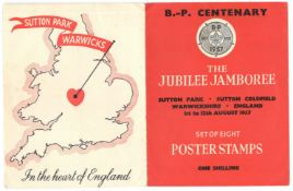 1957 THE JUBILEE JAMBOREE SET OF EIGHT POSTER STAMPS