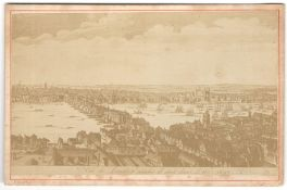 A VIEW OF LONDON BRIDGE IN THE YEAR 1647, FROM AN ENGRAVING BY HOLLAR