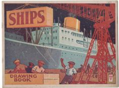 SHIPS DRAWING BOOK PUBLISHED BY P.M. (PRODUCTIONS) LTD LONDON & LETCHWORTH