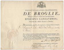 ORDINATION SIGNED BY PRINCE MAURICE-JEAN DE BROGLIE
