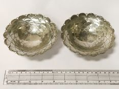TWO HM SILVER DISHES