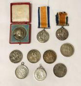 QTY SILVER COINS /MEDALS