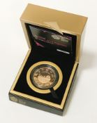 THE OFFICIAL LONDON 2012 OLYMPIC £5 GOLD PROOF COIN - BOXED WITH CERTIFICATE