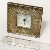 HM SILVER MANTLE CLOCK