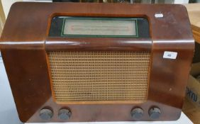 A Murphy type A168M radio with mahogany case.