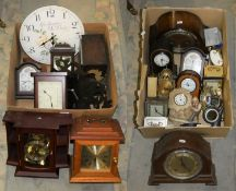 2 boxes of mainly mantle and carriage clocks (2)