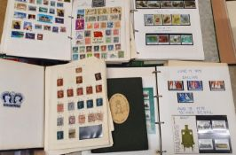 A stamp album, to include a Penny Black, 7 x Penny Red, red 1/2D, 4 x Blue Two Penny, various