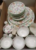 A Minton Hadden Hall tea service for 6 place settings, tea cups, saucers, side plates, 4 serving