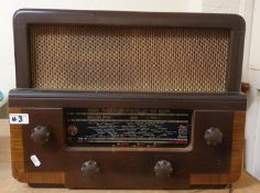 A Murphy type A684 valve radio, c.1960 and a Pilot Blue Peter valve Radio, c. 1950 (2).
