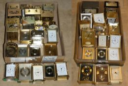 A selection of mainly quartz carriage clocks in 2 boxes (2).