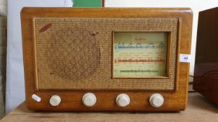 A Beethoven Electric valve radio, c. 1947 and a PYE model 1107 valve radio, c. 1960 (2).