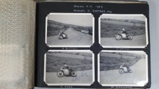 Of TT interest; two photograph albums from the 1958/59/60 seasons, some 240 black and white