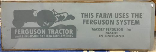 A single side tin Ferguson Tractor advertising sign, 47 x 132 cm.