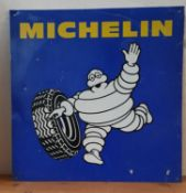 A tin Michelin tyre sign, 75 x 75 cm,