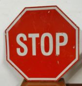 A single sided hexagonal Stop sign, 70 cm.