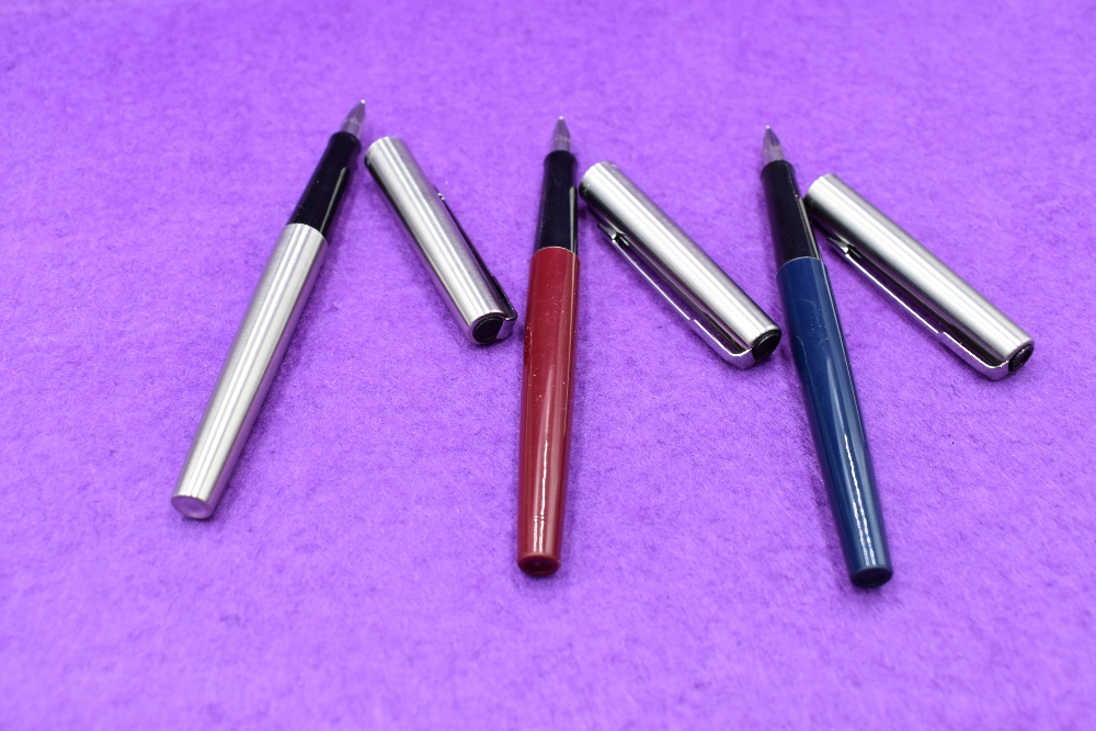 Lot 8 - Three boxed Parker 45 fountain pens