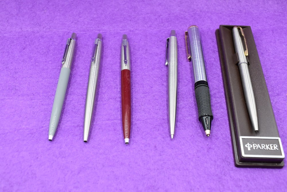 Lot 6 - A collection of ballpoint pens mainly Parker