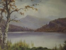 A watercolour, Donald A Paton (Edward Thompson) Lakes landscape, signed, 11.5inx17in