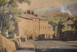 A watercolour, Geoffrey H Pooley, Kirkby Lonsdale, signed, 10inx14in