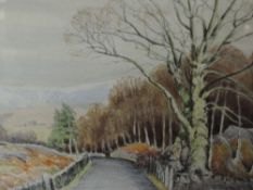 A watercolour signed Neil Taylor, Country Lane. 49cmx36cm