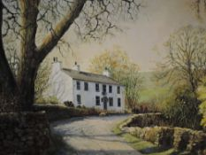 An oil painting, Marion Bradley, Sportsman's Inn, Dent, signed and attributed verso