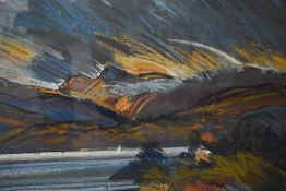 A pastel sketch, Libby Edmondson, The Langdales, signed, 25inx19.5in