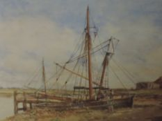 A pair of watercolours, Francis B Tighe, High Tide and The Jetty Rye signed and dated 1929, each
