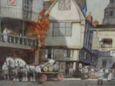 A watercolour, Ernest Uden, An English Inn, signed and attributed verso, 9.5in x 13.5in