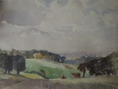 A watercolour, James Allen Hill, Cuerden Hall park and Valley, signed, dated and attributed verso,